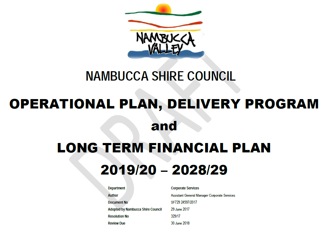 Draft 2019-20 Operational Plan and budget released